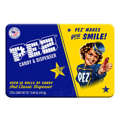 PEZ Candy Tin